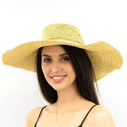 Шляпа женская Marmilen Вязаная Круглая темно бежевая ( ШС-28-02 )  , фото 2