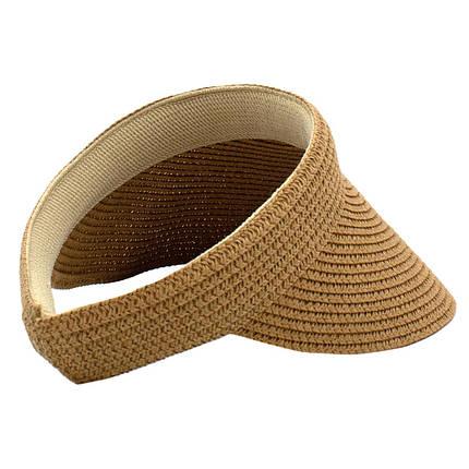 Шляпа женская Marmilen Обруч Без банта темно бежевая( 1001-03 )  , фото 2