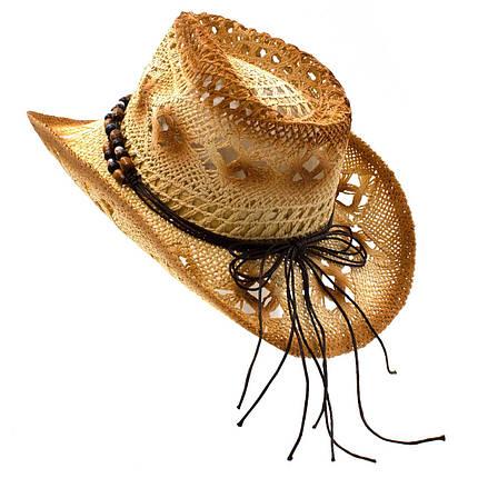 Шляпа женская Marmilen Ковбойка Ажур бежеввая ( KB-03-04 )   , фото 2
