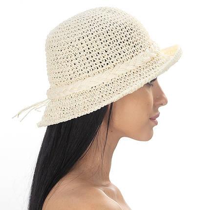 Шляпа женская Marmilen Обод КОСЫ светло бежевая( DM-200-09 )   , фото 2