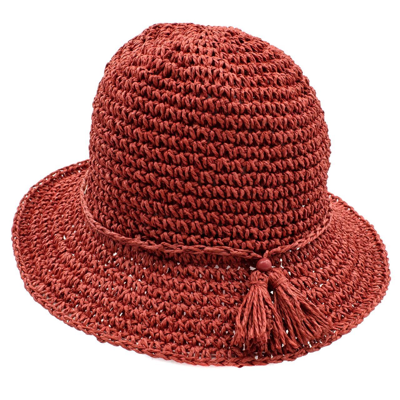 Шляпа женская Marmilen Кисточка терракотовая ( DM-202-30 )