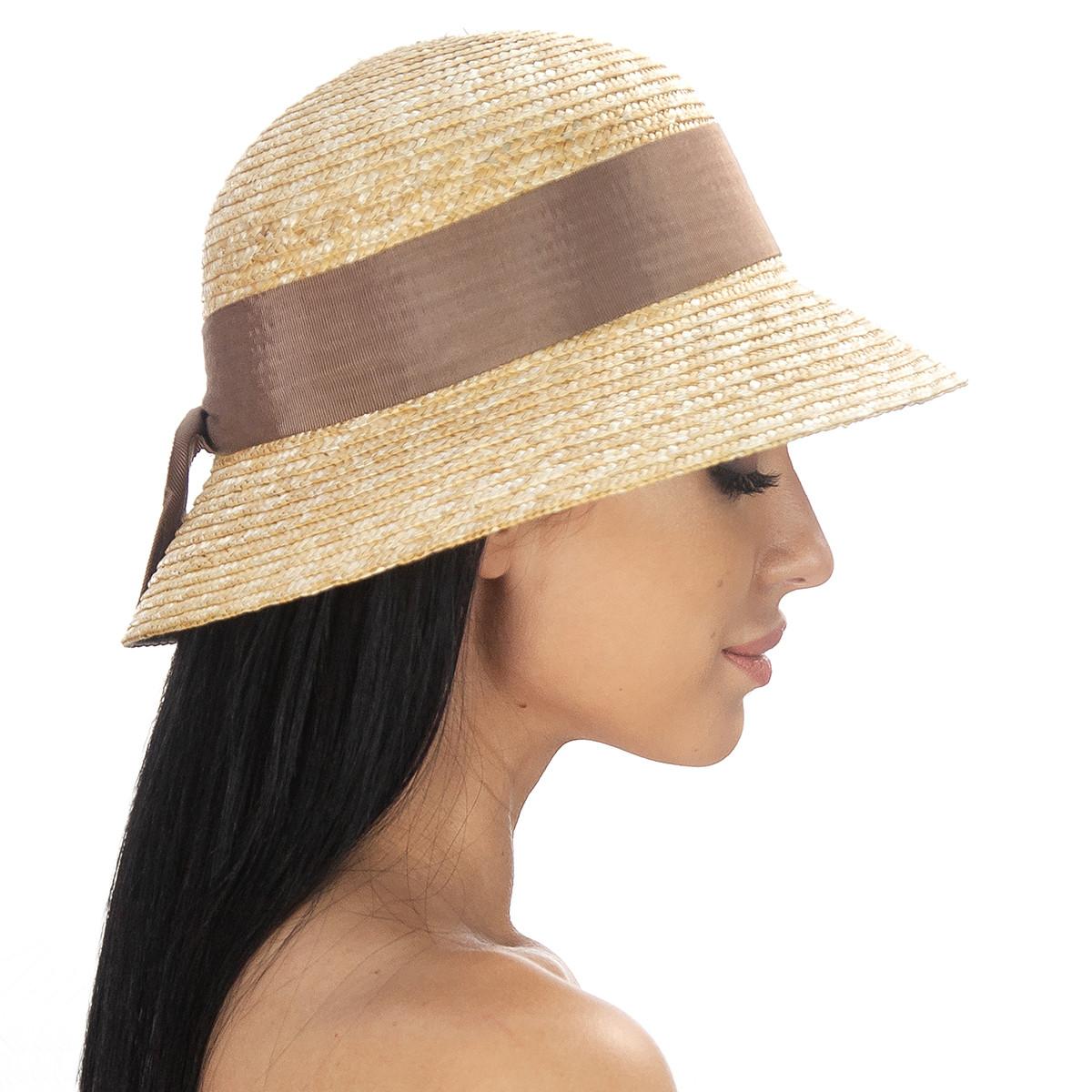 Шляпа женская Marmilen Кейси лента молочная( DM-186-4323 )