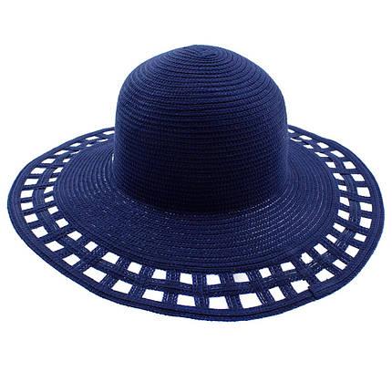 Шляпа женская Marmilen Поле-Квадраты синяя ( DM-005-05 )    , фото 2