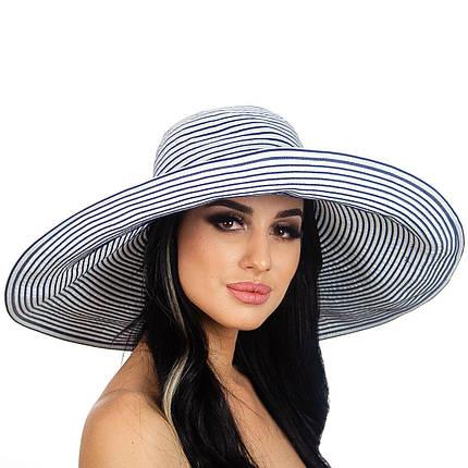 Шляпа женская Marmilen Визалия полосы бело синяя( DM-014-0205 )   , фото 2