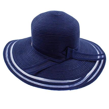 Шляпа женская Del Mare Поле-Полосы темно синяя ( DM-043-05 ), фото 2