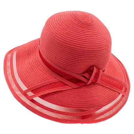 Шляпа женская Del Mare Поле-Полосы темно розовая ( DM-043-41 ), фото 2