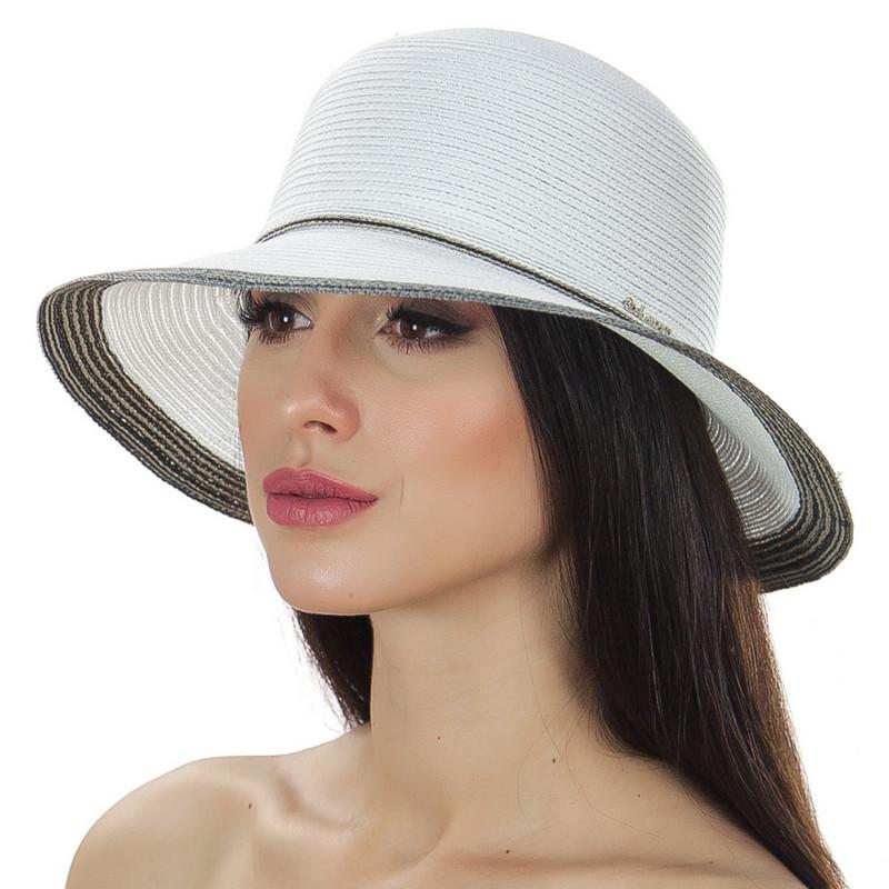 Шляпа женская Del Mare Телса белая хаки ( DM-044-0208 )