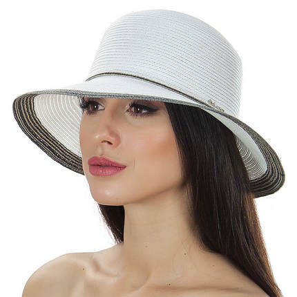 Шляпа женская Del Mare Телса белая хаки ( DM-044-0208 ), фото 2