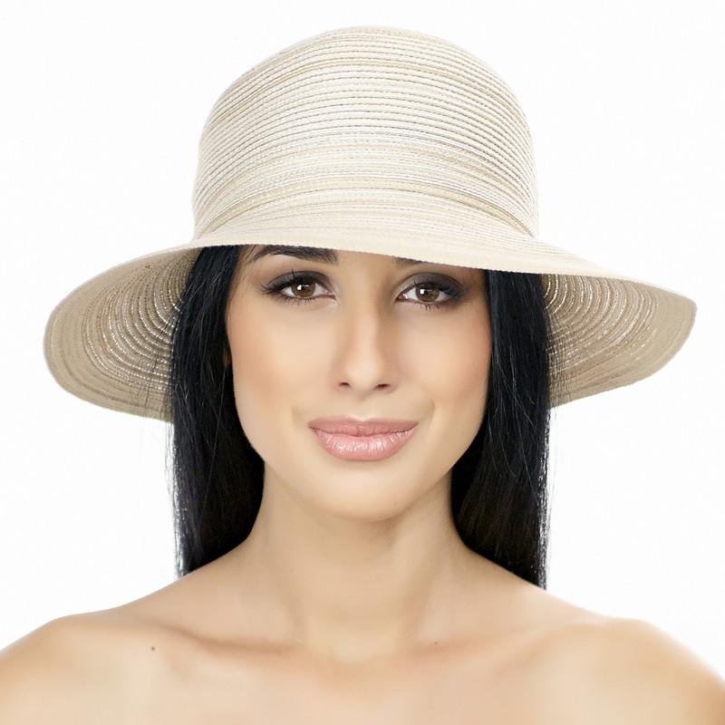 Шляпа женская Del Mare Телса светло бежевая с меланжем( DM-044-10 )