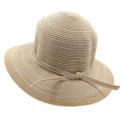 Шляпа женская Del Mare Телса светло бежевая с меланжем( DM-044-10 ), фото 2