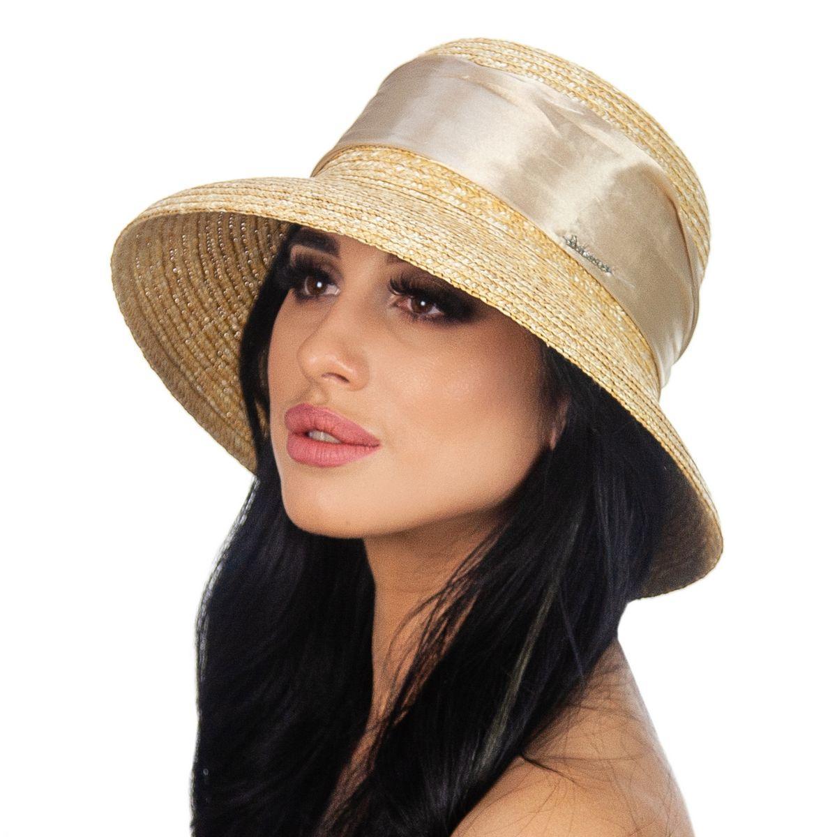 Шляпа женская Marmilen Кристи лента бежевая( DM-079-43 )