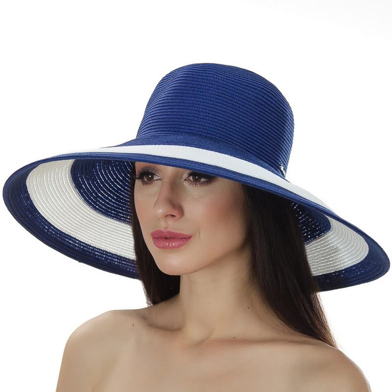 Шляпа женская Del Mare Рика полоска темно синяя с белым( DM-101-05 )