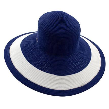 Шляпа женская Del Mare Рика полоска темно синяя с белым( DM-101-05 ), фото 2
