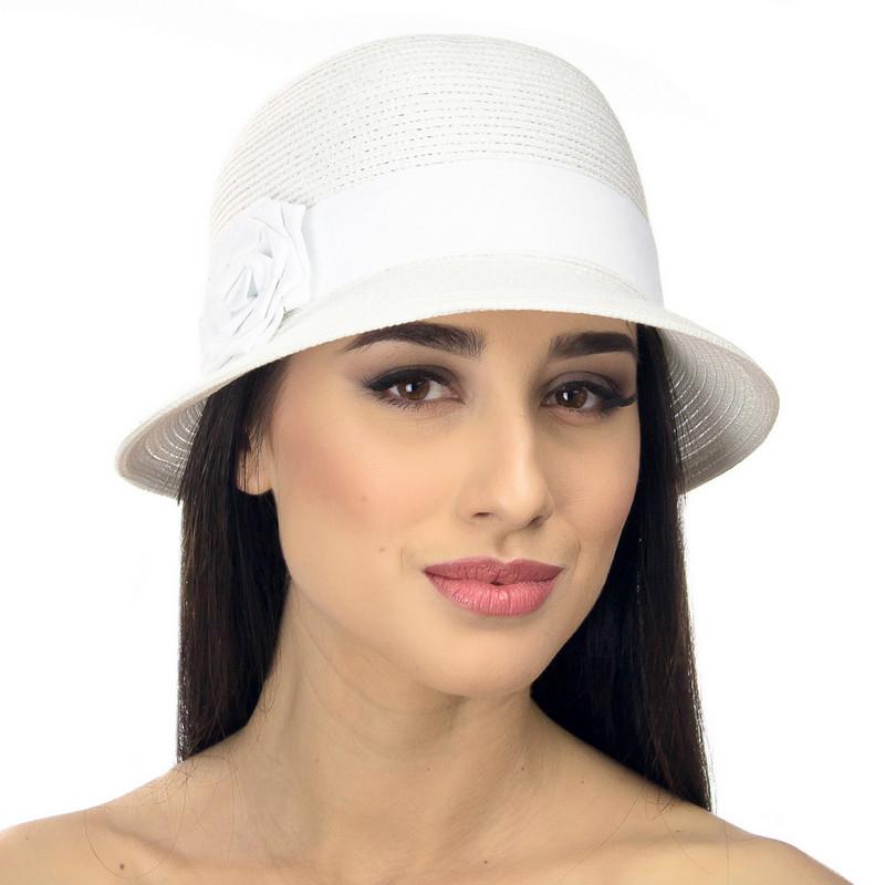 Шляпа женская Marmilen Санта-Роза белая ( DM-104-02 )