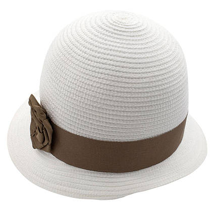 Шляпа женская Marmilen Санта-Роза белая темно бежевая ( DM-104-0230 )  , фото 2
