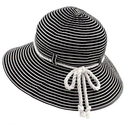Шляпа женская Marmilen Страйпс-Жгут черно белая ( DM-110-01 )   , фото 2