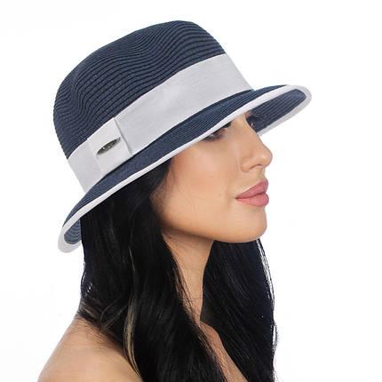 Шляпа женская Del Mare Ирэн темно синя с белым ( DM-142-0502 ), фото 2