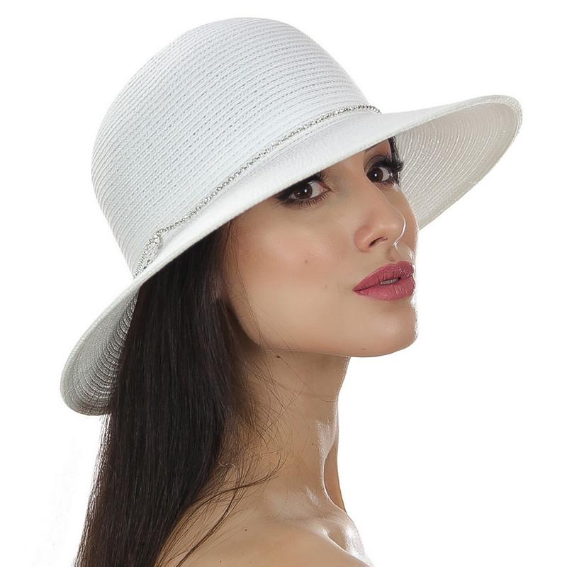 Шляпа женская Del Mare Камни полоса белая( DM-145-02 )
