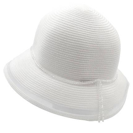 Шляпа женская Marmilen Стразы сетка белая( DM-157-02 )    , фото 2