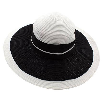 Шляпа женская Del Mare Гранд полоска бело черная( DM-166-0201 ), фото 2