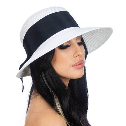 Шляпа женская Marmilen Бона бант бело черная( DM-170-0201 )   , фото 2