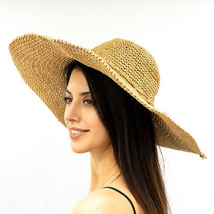 Шляпа женская Marmilen Вязаная Круглая песок ( ШС-28-03 )   , фото 2