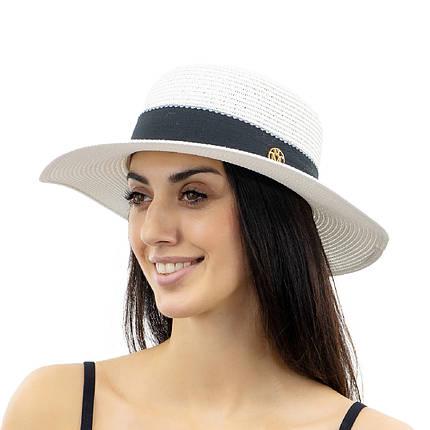 Шляпа женская Marmilen Мила белая ( YM8208-02 )    , фото 2