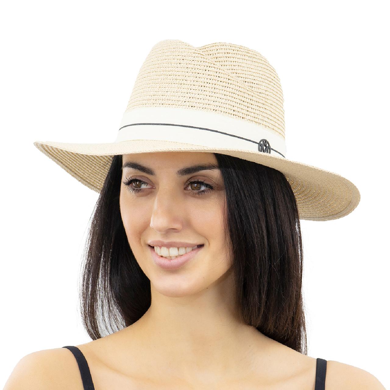 Шляпа женская Marmilen Волна бежевая ( YM0112-02 )