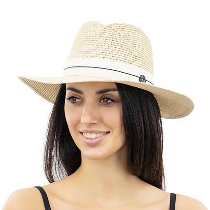 Шляпа женская Marmilen Волна бежевая ( YM0112-02 )    , фото 2