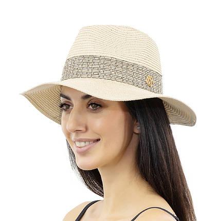 Шляпа женская Marmilen Крис М светло бежевая ( YM8294-06 )  , фото 2
