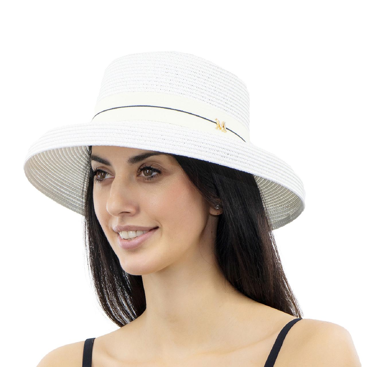 Шляпа женская Marmilen Абажур белая ( YM0109-01 )