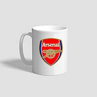 """Белая кружка (чашка) с логотипом футбольного клуба """"Arsenal FC"""""""