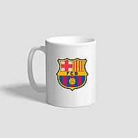 """Белая кружка (чашка) с логотипом футбольного клуба """"Barselona"""""""