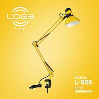 """Настольная лампа на струбцине """"Подсолнух"""" Украина (ТМ LOGA ® Light), фото 1"""