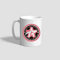 "Белая кружка (чашка) с логотипом футбольного клуба ""CSKA-KYIV"""