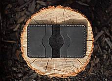 Картхолдер из кожи ручной работы VOILE ch5-blk, фото 2