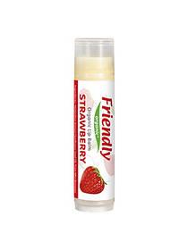 Органический бальзам для губ Friendly organic клубника 4,25 гр