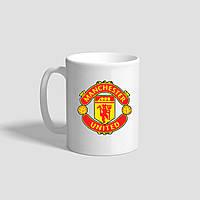 """Белая кружка (чашка) с логотипом футбольного клуба """"Manchester united"""""""
