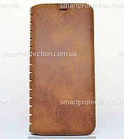 Чехол-книжка leather folio для Samsung Galaxy S8 коричневый