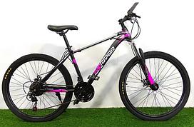 """Горный велосипед TopRider 611 29"""" черно-розовый"""