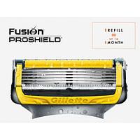Сменные кассеты для бритья поштучно Fusion Proshield Chill 1 шт (Жёлтые) (Original) - Gillette