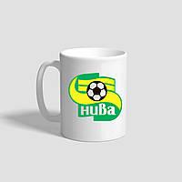 """Белая кружка (чашка) с логотипом футбольного клуба """"Нива"""""""