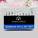 Набір насадок для фрезера Global Fashion 10шт, фото 2