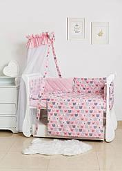 Детская постель Twins Premium Glamour TG-08B Bear pink