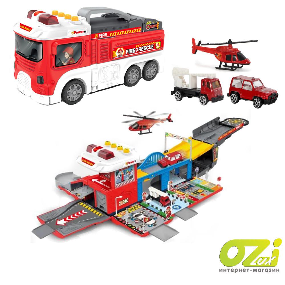 Детский игровой гараж-паркинг Пожарная станция LA-038
