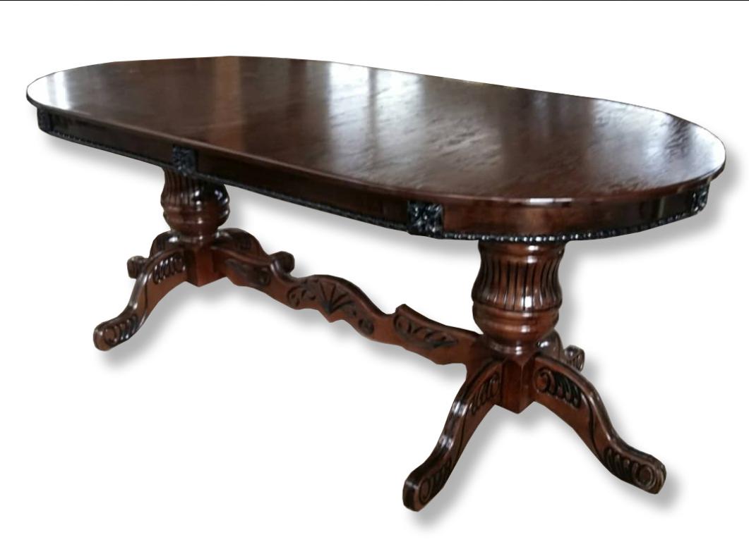 Обеденный большой стол, из массива дерева -Премьер Новый (раздвижной)