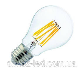 Светодиодная лампа FILAMENT GLOB-8 8W A60 Е27 2700K Код.59728