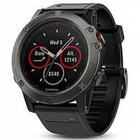 Спортивные часы GARMIN Fenix 5X Sapphire Slate Gray with Black Silicone Band
