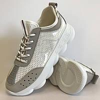 Кросівки жіночі сітка білі Artin