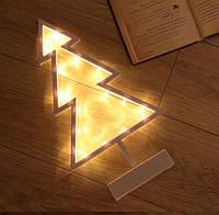 Светодиодный светильник ночник Елка